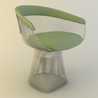 3d chair platner