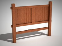 3d model furniture rustic