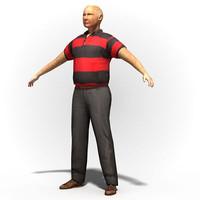 3d model man rigged