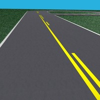 rural road set plates 3d model