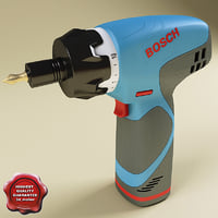 3d model screwdriver bosch