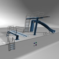 swimming pool equipment 3d model