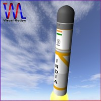 3d model of india submarine launched