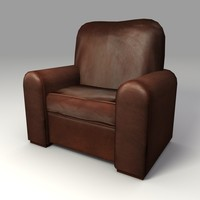 Low Poly Leather Chair 3d Model