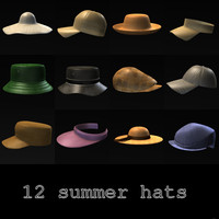 3ds max summer hats