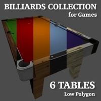 Low Poly Billiards Table Collection