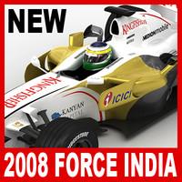 3d model 2008 force india vjm01