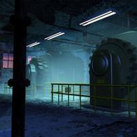 3d generator stage set 01 model