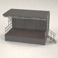 3d model of stage