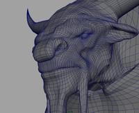 3d minotaur creature model