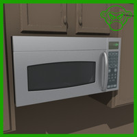 microwave stainless steel 3d model