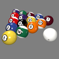 3d professional style billiard balls model