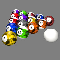 customized billiard balls - 3d 3ds