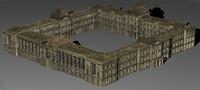 louvre building obj