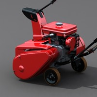 lawn snow mower 3d max