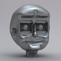 simple robot head