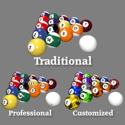 billiard balls pool 3d model