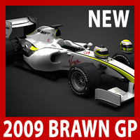 2009 F1 Brawn GP BGP 001 (car, helmets, steering wheel and seat)
