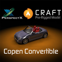 pre-rigged copen convertible rigged 3d model