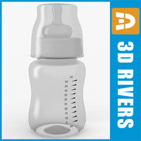 glass baby bottle 3d max