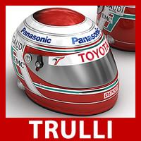 3d jarno trulli f1 helmet