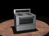 kitchen stove 3d model