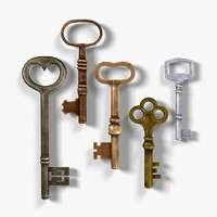 3d model clasic old keys