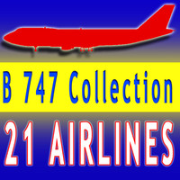21 Airline Textures Boeing 3D Aircraft V2