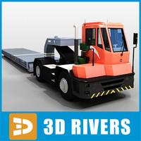 3d terminal truck trailer model