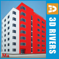 3d model of apartment building house 16