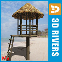 Lifeguard tower v1 by 3DRivers