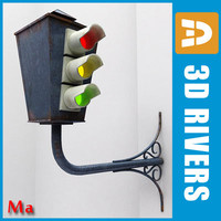 3d traffic light street v1 model