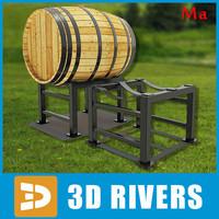 3d model barrel stand
