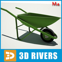 3d village wheelbarrow model