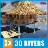 3d bungalow island items