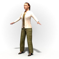 3ds max ready rig woman character