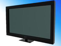 High Poly Flatscreen plasma TV