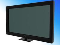 3d model black tv