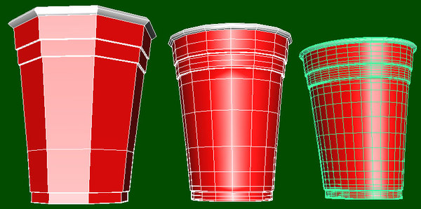 3d party cup - Party Cups... by DarkfyreFW