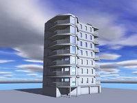 modern architecture 3d 3ds