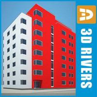 3d apartment building house 16