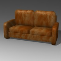 sofa cartoon 3d model