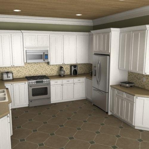 Model Kitchen Set New: 3d Model Of Kitchen Set