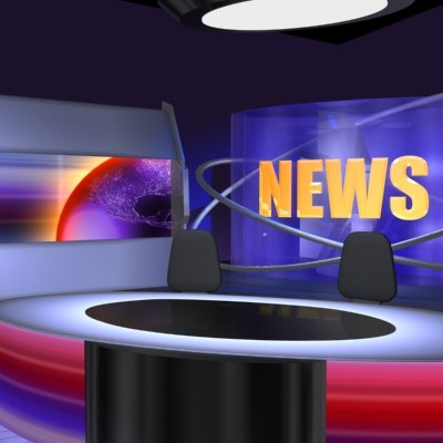 Maya broadcast news virtual set news vr set rar by dimitrisbar