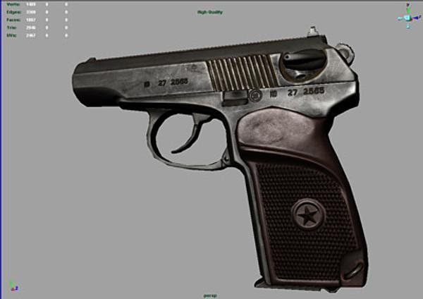 Pistol 3d models makarov tags makarov pm pistol gun firearm 9x18