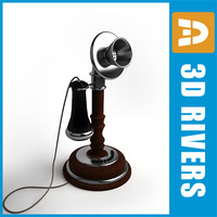 Retro telephone 01 by 3DRivers