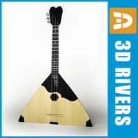 russian balalaika stringed 3ds