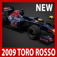 2009 F1 Toro Rosso STR4 (car, helmets, steering wheel and seat)