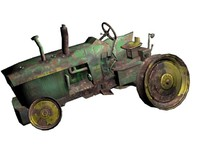 3d model tractor image