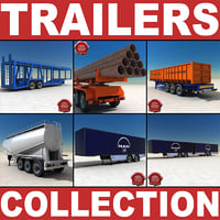 trailers car carrier 3d max